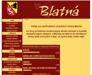 blatensko.com verze před modernizací v roce 2013