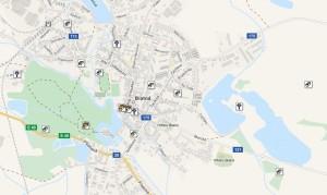 mapa kešek Blatná